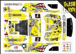 YELLOW Sharks Teeth themed vinyl SKIN Kit To Fit Traxxas Slash 4x4 Short Course Truck